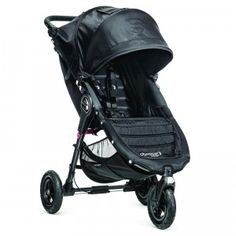 A compact, all-terrain stroller. The one-step fold feature is helpful for parents who use mass transit.