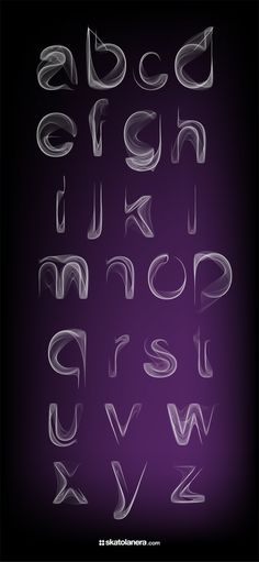 An experimental font inspired by smoke movement in the air.