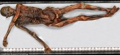 Otzi the Iceman | 5,300-year-old mummy found sticking out of the ice by two hikers on the Italian/Swiss border in 1991. Otzi has 47 tattoos, was fatally shot in the back by an arrow, ate ibex meat & einkorn wheat for his last supper, & has provided science with the oldest viable human blood sample.