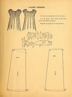 I've been trying to settle on a chemise pattern, and this might just be the trick! I've been trying to settle on a chemise pattern, and this might just be the trick! Sewing Hacks, Sewing Crafts, Sewing Projects, Vintage Sewing Patterns, Clothing Patterns, Fashion Patterns, Costume Patterns, Dress Patterns, Shirt Patterns