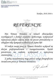[:pl]Referencje za zdjęcia do kampanii wyborczej posła Józefa Lassoty[:]. Referencje z biura poselskiego Józefa Lassoty