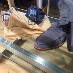 light orange slim cotton pants Church's pembrey shoes Stefano Corsini textured belt Light Orange, Cotton Pants, Slim, Belt, Belts