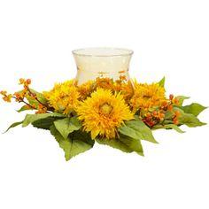 nearly natural Golden Sunflower Candelabrum Silk Flower Arrangement, Yellow Bright Flowers, Fake Flowers, Silk Flowers, Fabric Flowers, Sunflower Centerpieces, Candle Centerpieces, Candles, Centerpiece Ideas, Wedding Centerpieces