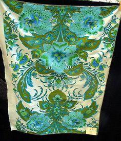 RARE Vtg 1960s David Dash Designer Silk Fabric 1 Yard Empress on Chanel | eBay