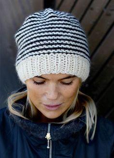 Strikkeopskrift - ALT.dk Free Knitting, Knitting Patterns, Bindi, Drops Design, Baby Hats, Mittens, Knitted Hats, Free Pattern, Diy And Crafts
