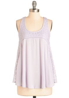 Have a Crepe Day! Top. Start your Saturday on the tastiest track with a fun-filled brunch - and this lacy, lavender top! #lavender #modcloth