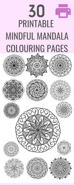 Download your printable mandala pages now and get into a calm and mindful headspace! Mandala Coloring Pages, Colouring Pages, Coloring Sheets, Health Blogs, Kids Mental Health, Health Talk, Anxiety Tips, Thing 1, Invisible Illness