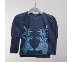 Deer Baby Girls Top to wear 24/7 by   Jack n'a qu'un Oeil at claradeparis.com  #kidsfashion #kidsclothes