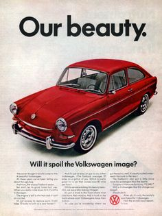 1967 Volkswagen Fastback Sedan car print ad Will it by Vividiom, $9.00