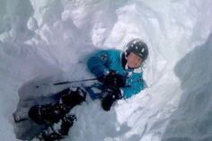 As he lay covered in about two metres of snow Mr Castran feared he was going to die.