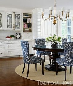 A round dining table makes for more intimate gatherings Dining