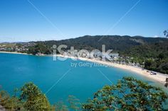 Sunny Kaiteriteri Beach, New Zealand Seacape Royalty Free Stock Photo Abel Tasman National Park, Seaside Towns, Image Now, New Zealand, Sunnies, National Parks, Royalty Free Stock Photos, River, Beach