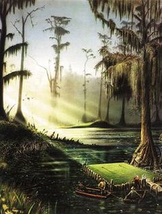 Okefenokee Municipal Golf Course  (a fantasy golf painting ; )