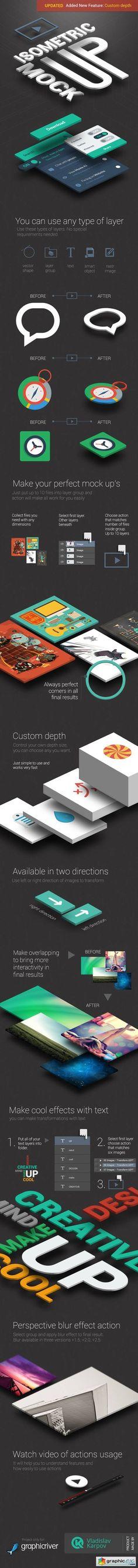 #Isometric #App #MockUp Actions Bundle