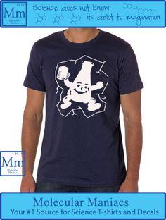 Flask Man Shirt by MolecularManiacs on Etsy, $18.00// #nerdfashion #chemistry #scienceshirts