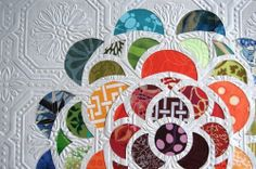 textured wallpaper and scrapbook paper art--looks so much like a quilt!