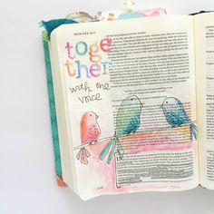 watercolor Journaling Bible entry by Bekah and a lesson on living in harmony