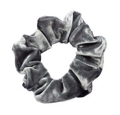 Crushed Silver Scrunchies