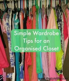 Don't know about you, but my wardrobe is not organised at all. It's a jumble. So I've put together some easy to follow tips for an organised closet #closetbasics #wardrobeplanning #outfits #getorganised #fashion