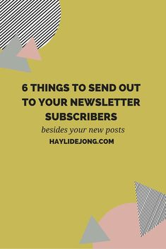 """Are you completely lost as to what you should send out to your e-mail list? Well I have some ideas for you. Click through to get some fresh new ideas to send out to your newsletter subscribers BESIDES just the typical """"I have a new post, go check it out"""" updates."""