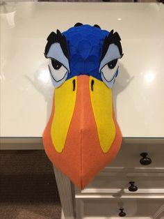 Zazu Mask made for Lion King Junior - constructed onto baseball cap
