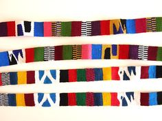 Colorful Woven Tribal Fabric Trims / Straps    lots of colors for making handbags