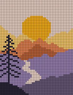 Crochet Wall Art, Tapestry Crochet Patterns, Crochet Wall Hangings, Crochet Stitches Patterns, Crochet Chart, Cross Stitch Art, Cross Stitch Designs, Cross Stitching, Cross Stitch Embroidery