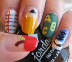 Erica's Nails and More: NOTD: Back to School Nail Art