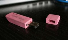 Pink Eraser USB Flash Drive (click for instructions on how to make one of these!)