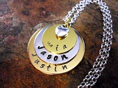 Personalized Jewelry Mommy Necklace Personalized by CharmAccents, $42.00