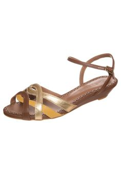 Pastelle - CERFEUIL - Wedge sandals - gold Chaussure f7534072fd1