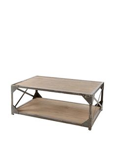 Zalva Wood and Wrought Iron Coffee Table at MYHABIT