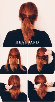 LOW PONYTAIL - Hairstyle Tutorial #HeadbandProject