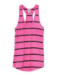Bling Yoga Tank - Victoria's Secret Pink® - Victoria's Secret
