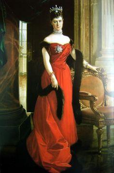 Empress Maria Feodorovna  by Francois Flameng  1894