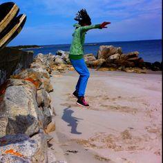 Rock Jumping @ White Beach Nova Scotia