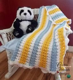 X Stitch Crochet Baby Blanket Pattern | AllFreeCrochetAfghanPatterns.com