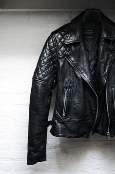 All Saints motorcycle leather jacket $500 $50x12months = 1year