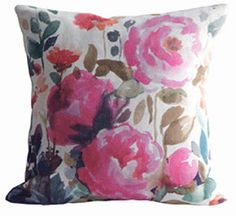 Peony Floral Cushion, Rowen & Wren