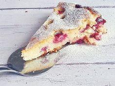 Habkönnyű gyümölcsös-túrós pite - Mom With Five Baby Food Recipes, Dessert Recipes, Sweet Cakes, Cake Cookies, No Bake Cake, Fudge, Tart, Food And Drink, Sweets