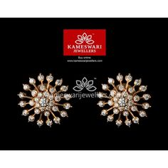 Estate and Vintage Jewelry and Accessories Diamond Earrings Indian, Gold Jhumka Earrings, Buy Earrings, Jewelry Design Earrings, Gold Earrings Designs, Earrings Online, Gold Designs, Diamond Jewellery, Pendant Jewelry