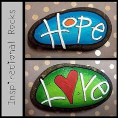 Diy painted rocks ideas with inspirational words and quotes (141)