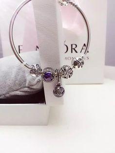 50% OFF!!! $159 Pandora Bangle Charm Bracelet Blue. Hot Sale!!! SKU: CB01713 - PANDORA Bracelet Ideas