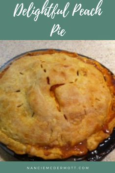 Wonderfully plain, but vanilla ice cream gives this Delightful Peach Pie's peachy juices somewhere to show off even more! Jello Recipes, Delicious Recipes, Healthy Recipes, Best Comfort Food, Comfort Foods, 1950s Food, Cheap Family Meals, Ginger Peach, Ripe Peach