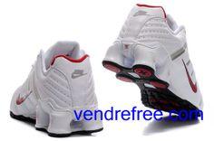 new arrival d6235 2b11c Vendre pas cher Femme Nike Shox NZ Chaussures (couleur vamp-blanc interieur- blanc,rouge,logo et sole-rouge,noir) en ligne en France.
