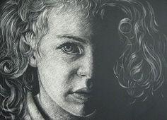 scratchboard portrait - Google Search High School Drawing, Scratch Art, Portraits, Google Search, Studio, Drawings, Artist, Inspiration, Biblical Inspiration
