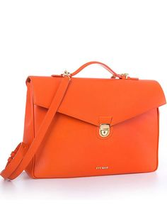 CN BUSINESS ORANGE NAPPA - YVY BAGS