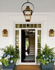 Love these planters for front porch!