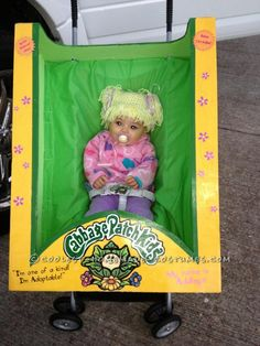 I can't handle how cute this costume is! Cabbage patch doll!