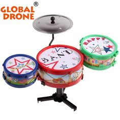 New Arrival 2016 Toys Jazz Drum Rock Set Music Toddler Toys Excellent Christmas Toys For Autism